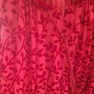 Sundance Tops - Sundance Velvet & Sheer Floral Top Size XS